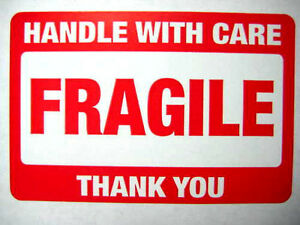 2 000 2 X 3 Fragile Handle With Care Label Stickers