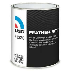 1 Gallon Usc Feather Rite Lightweight Tack Free Auto Body Filler Hardener 21330