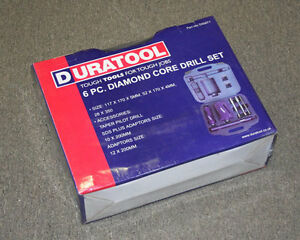 New Tl10280 Duratool 6 Pcs Diamond Core Drill Set