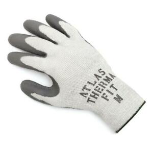 12 Pairs Atlas Showa Fit 451 300i Thermal Fit Rubber Coated Work Glove Durable