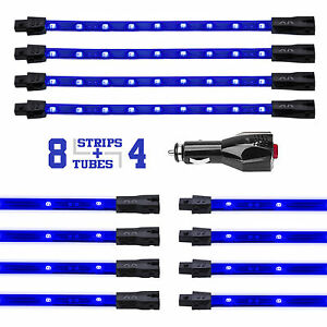 New Led Neon Accent Lighting Kit For Car Truck Under Interior 3 Mode Blue