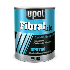U Pol Fibral Lite Sandable Fiber Glass Auto Body Filler 3l Tin Up700