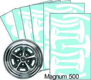 Mustang Magnum 500 14 Wheel Paint Mask Stencil Kit