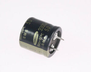12x 3300uf 50v Snap In Mount Electrolytic Capacitor Volts 3300mfd 500vdc 3 300
