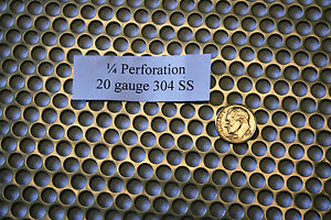Perforated 304 Stainless Steel 1 4 Inch Hole 20 Gauge Price Per 10 Square Inch