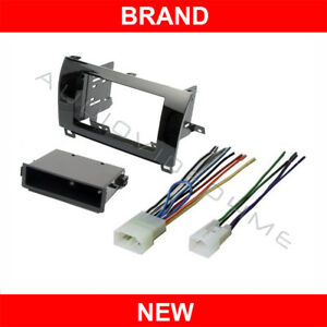 Gloss Radio Stereo Install Double Din Dash Mount Kit wire Harness Plug Tundra