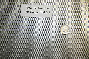 Perforated 304 Stainless Steel 3 64 Inch Hole 20 Gauge Price Per 7 Square Inch