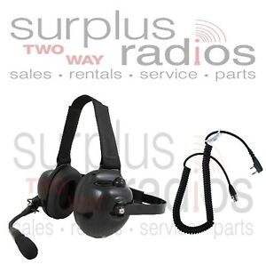 New Pryme Dual Muff Racing Headset For Kenwood K1 Tk3160 Tk2160 Tk3360 Tk3312