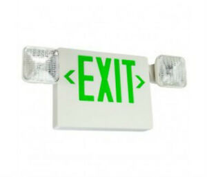 Led Exit Sign Emergency Light Combination Green