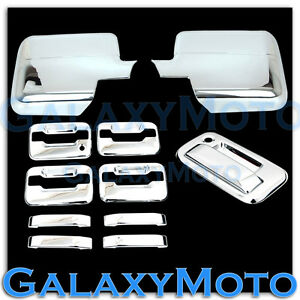 04 08 Ford F150 Chrome Mirror 4 Door Handle no Keypad keyhole tailgate Cover Kit