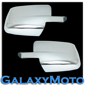 09 16 Dodge Ram Without Turn Light Chrome Plated Full Abs Mirror Cover A Pair