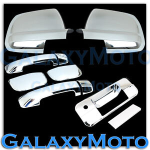 Mirror Chrome 4 Door Handle Tailgate Cover For 07 13 Toyota Tundra Double Cab