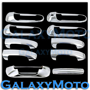 Chrome 4 Door Handle W O Psg Keyhole Tailgate Cover For 02 08 Dodge Ram