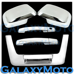 Chrome Mirror 2 Door Handle Wo Psg Keyh tailgate Cover For 05 12 Nissan Frontier