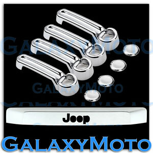 Chrome 4 Door Handle tailgate Liftgate Molding Trim Cover For 08 12 Jeep Liberty