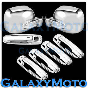 Chrome Mirror 4 Door Handle W o Psg Keyhol tailgate Cover For 02 07 Jeep Liberty