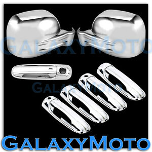 Chrome Mirror 4 Door Handle W Psg Keyho tailgate Cover For 02 07 Jeep Liberty