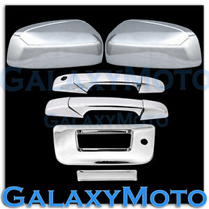 07 13 Chevy Silverado Chrome Top Mirror 2 Door Handle Tailgate W Keyhole Cover