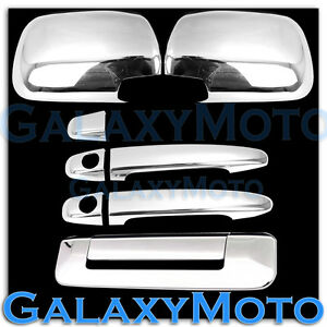 Chrome Full Abs Mirror 2 Door Handle Tailgate Cover For 05 11 Toyota Tacoma