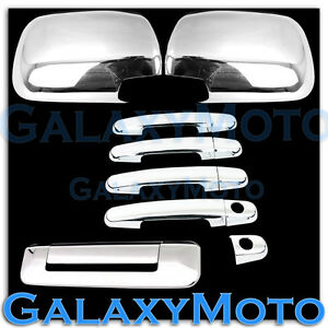 For 05 11 Toyota Tacoma Chrome Plated Abs Mirror 4 Door Handle Tailgate Cover