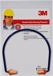 3m Tekk Safety Banded Hearing Protector Ear Plugs Protection 28 Db Adjustable