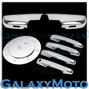 07 14 Chevy Suburban tahoe Chrome Lower Mirror 4 Door Handle No Kh gas Cover
