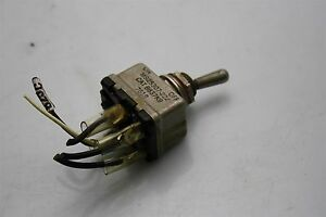 3x Aircraft Eaton Toggle Switch Ms25307 222 On off 8837k9 Dpst 25a 28vdc Lever