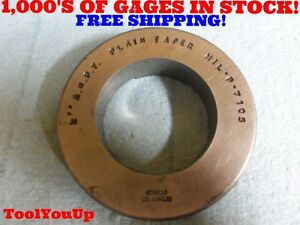 2 A n p t Plain Taper 6 Step Pipe Thread Ring Gage Gauge Anpt Usa Made Tools