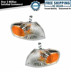 Side Marker Turn Signal Corner Parking Lamp Light Pair Set For 98 02 Chevy Prizm