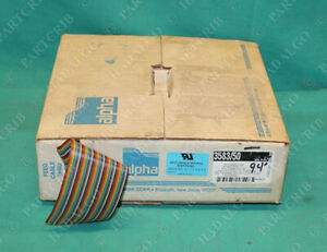 Alpha Wire 602 3583 50 Flat Ribbon Cable 50 Conductors 94ft 28awg