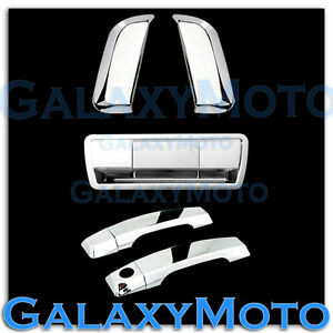 Chrome 4 Door rear Vertical Handle tailgate Cover For 04 12 Nissan Armada