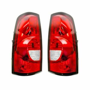 Taillights Taillamps Rear Brake Light Lamp Lh Rh Pair Set For 04 07 Silverado