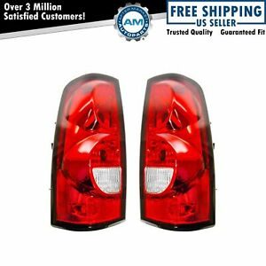 Tail Lights With Harness And Bulbs Pair Set For 04 07 Chevy Silverado