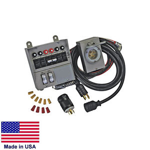 Transfer Switch Kit For Portable Generators 30 Amp 120 240v 6 Circuit