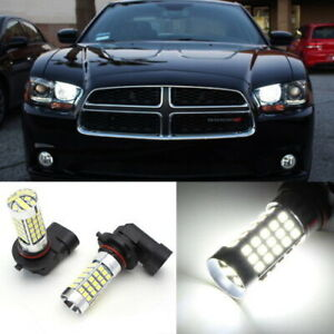 6k Hid White 69 Smd 9005 Led For 2011 Up Dodge Charger Daytime Running Lights