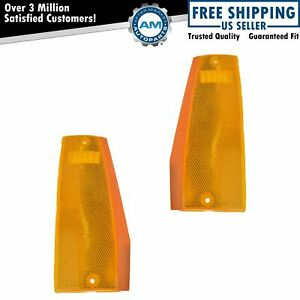Corner Parking Light Pair Set For Jeep Cherokee Wagoneer Comanche Pickup Truck