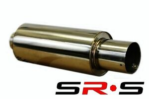 Type R1 Universal Stainless Steel Performance Muffler 3 Inlet 4 5 Tip Acura Rsx