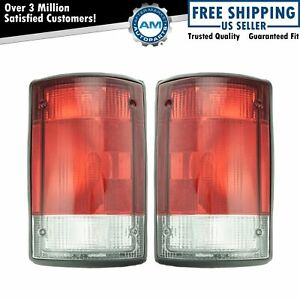 Taillights Taillamps Left Right Pair Set For Ford E150 E250 E350 Excursion