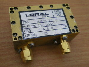 Rf Microwave Loral Terra Com Rf Frequency Module X2 Multiplier 4 4 5 0 Ghz Sma