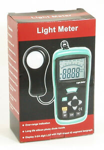 Dt 1308 400k Lux 40k Fc Digital Lcd Light Meter Foot candle Luxmeter Tester New