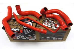 Hps Silicone Radiator Hose Kit W Clamps 05 06 Ford Mustang Gt red