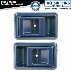 Blue Inner Interior Inside Door Handle Pair Set For Toyota Corolla Pickup Truck