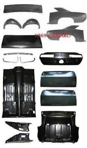 Body Kit Camaro 69 Quarter Full Floor Deck Lid Trunk Door Drop Off