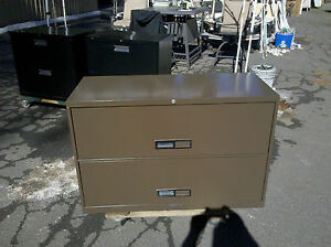 File Cabinet 2 Drawer Lateral 42 Brown Mcdowell Craig Wedeliverlocally Nor Ca