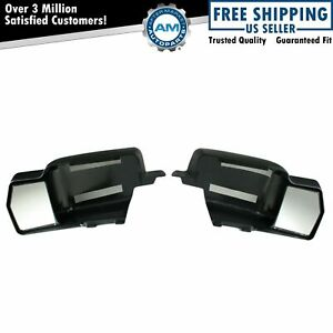Towing Side View Mirror Extensions Pair Set For 04 08 Ford F150 Pickup Truck