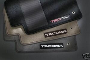 Toyota Tacoma 2007 2011 Trd Double Cab Charcoal Floor Mats Oem New