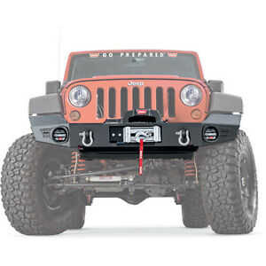 Warn Elite Series Front Bumper Without Grille Guard For 07 18 Jeep Wrangler Jk