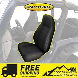 Smittybilt Black Denim Bucket Seat For Jeep Wrangler Cj Yj Tj Lj Jk Jku