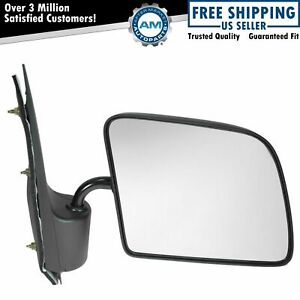 Manual Side View Mirror Passenger Right Rh New For 94 06 Ford Econoline Van