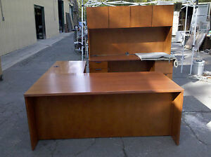 executive Desk Credenza Hutch With Matching Table We Deliver Locally Norca